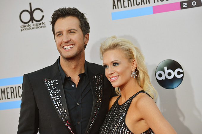 Luke Bryan and his wife